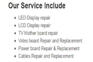 tv repairing